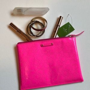 Kate Spade pinksaphre large pouch